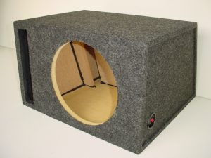 Custom Subwoofer Boxes - Slotted Port - Audio Dynamics - Audio Dynamics [HB21-1x12SPL] Single 12'' Transmission Line Slot Ported Sub Box