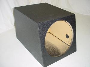 Custom Subwoofer Boxes - Slotted Port - Audio Dynamics - Audio Dynamics [sin15hppoly] Single 15'' Horn Ported Pro-Poly Subwoofer box Sub box