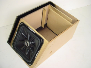 Custom Subwoofer Boxes - Slotted Port - Audio Dynamics - Audio Dynamics [221x15spl1po] Single 15'' Kicker L7 Transmission Line Sub Box