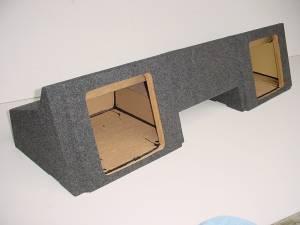 "Custom Subwoofer Boxes - Chevy / GMC - Audio Dynamics - Audio Dynamics [88-98Gm212L7] 1988-1998 Gm Ext Cab 2-12"" L7 Kicker Sub Box"