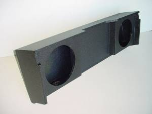 Custom Subwoofer Boxes - Chevy / GMC - Audio Dynamics - Audio Dynamics [GM-03] 99-2006 Chevy Ext. Cab 2-12'' Pro Poly Sub Box