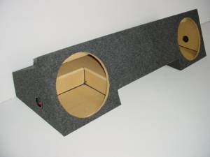 "Custom Subwoofer Boxes - Dodge - Audio Dynamics - Audio Dynamics [DOG-203] 1994-2001 Dodge Extended Cab 2-12"" Sub Box"
