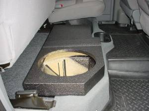 Custom Subwoofer Boxes - Dodge - Audio Dynamics - Audio Dynamics [DOG-206] 2002-2008 Dodge Quad Cab Poly single Sub Box 1X10