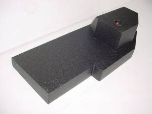 Custom Subwoofer Boxes - Dodge - Audio Dynamics - Audio Dynamics [DOG-207] 2002-2008 Dodge Quad Cab Poly single Sub Box 1X12