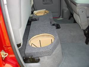 Custom Subwoofer Boxes - Dodge - Audio Dynamics - Audio Dynamics [DOG-205] 2002-2008 Dodge Ram Quad Cab 2-12'' Sub Box
