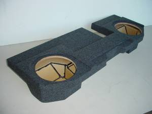 Custom Subwoofer Boxes - Dodge - Audio Dynamics - Audio Dynamics [dgju60/40pet] 2002-2008 Dodge Ram Quad Cab Jumbo carpeted with 60/40 seats
