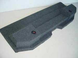 Custom Subwoofer Boxes - Dodge - Audio Dynamics - Audio Dynamics [dgjubenpet] 2002-2008 Doge Ram Quad Cab Bench seats Jumbo carpeted Sub Box
