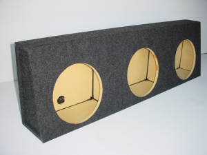 Custom Subwoofer Boxes - Universal Truck - Audio Dynamics - Audio Dynamics [53-3X12] 53-3x12 Sub Box