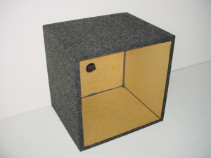 Custom Subwoofer Boxes - Hatchback/Trunk - Audio Dynamics - Audio Dynamics [HB SOLO 10''] Single 10'' Kicker L7 Square Sub Box
