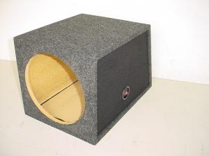 Custom Subwoofer Boxes - Hatchback/Trunk - Audio Dynamics - Audio Dynamics [1412sts] Slanted Back Single 12'' Sub Box