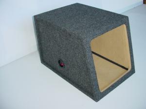 Custom Subwoofer Boxes - Hatchback/Trunk - Audio Dynamics - Audio Dynamics [HB 1412L7] Slanted Sealed Single Solobaric 12'' L7 Kicker Sub Box