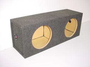 Custom Subwoofer Boxes - Hatchback/Trunk - Audio Dynamics - Audio Dynamics [SQ 10] 10'' Dual Square Sealed Sub Box