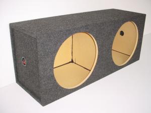Custom Subwoofer Boxes - Hatchback/Trunk - Audio Dynamics - Audio Dynamics [SQ 12] 12'' Dual Square Sealed Sub Box