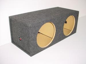 Custom Subwoofer Boxes - Hatchback/Trunk - Audio Dynamics - Audio Dynamics [SQ 15] 15'' Dual Square Sealed Box Sub Box