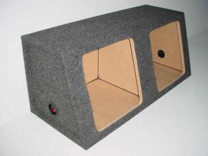 Custom Subwoofer Boxes - Hatchback/Trunk - Audio Dynamics - Audio Dynamics [HB 3212 L7] Dual 12'' Kicker Solobaric L7 Sub Box