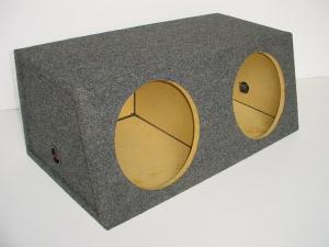 Custom Subwoofer Boxes - Hatchback/Trunk - Audio Dynamics - Audio Dynamics [HB 3112sl] Dual 12'' or 10'' Slanted Sub Box