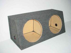 Custom Subwoofer Boxes - Hatchback/Trunk - Audio Dynamics - Audio Dynamics [HB 3212 SS] Dual 12'' Sealed Sub Box