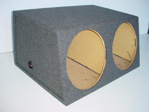 Custom Subwoofer Boxes - Hatchback/Trunk - Audio Dynamics - Audio Dynamics [HB3215SUB] Dual 15'' Sealed Jumbo Sub Box