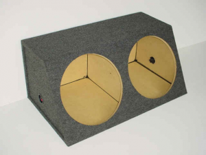 Custom Subwoofer Boxes - Hatchback/Trunk - Audio Dynamics - Audio Dynamics [HB 3215SL] Dual 15'' Sealed Sub Box