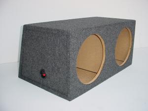 "Custom Subwoofer Boxes - Hatchback/Trunk - Audio Dynamics - Audio Dynamics [HB 3210-12-1] Slanted Back Sealed 10"", 12"" or 15"" Sub Box"