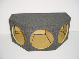 "Custom Subwoofer Boxes - Hatchback/Trunk - Audio Dynamics - Audio Dynamics [HB 32-3x12] 3-12"" Sealed Sub Box"