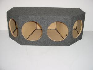 Custom Subwoofer Boxes - Hatchback/Trunk - Audio Dynamics - Audio Dynamics [HB 43-4x10] 4-10'' Sealed Sub Box