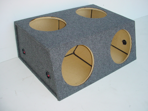 Custom Subwoofer Boxes - Hatchback/Trunk - Audio Dynamics - Audio Dynamics [HB 33-4X12] 4-12'' or 10''Sealed Sub Box