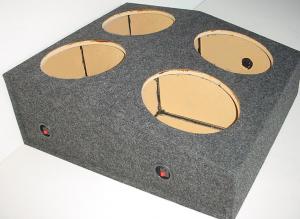 Custom Subwoofer Boxes - Hatchback/Trunk - Audio Dynamics - Audio Dynamics [MUSTANG 4x12] 4-12'' Sealed Sub Box