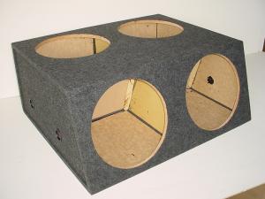 Custom Subwoofer Boxes - Hatchback/Trunk - Audio Dynamics - Audio Dynamics [HB 36-4x15] 4-15'' Sealed Sub Box