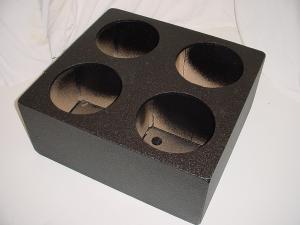 Custom Subwoofer Boxes - Hatchback/Trunk - Audio Dynamics - Audio Dynamics [4x12upfpols] 4x12'' Sealed Pro-Poly Sub woofer box