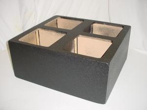 Custom Subwoofer Boxes - Hatchback/Trunk - Audio Dynamics - Audio Dynamics [4x12''l7poly] 4x12'' Solo-Baric L7 Sealed Pro-Poly Sub woofer box