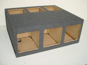 Custom Subwoofer Boxes - Hatchback/Trunk - Audio Dynamics - Audio Dynamics [HB35-610''] 6-10'' KIcker L7 or L5 Sub Box