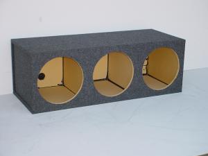 "Custom Subwoofer Boxes - Hatchback/Trunk - Audio Dynamics - Audio Dynamics [HB40-3x12] Triple 12"" Square Sealed Sub Box"