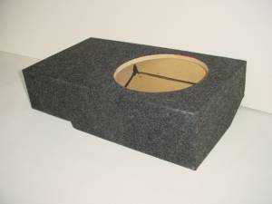 Custom Subwoofer Boxes - Ford - Audio Dynamics - Audio Dynamics [FORDSUCR1-10] 2001-2003 Ford SuperCrew Cab Single Sub Box Sub Box
