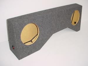"Custom Subwoofer Boxes - Toyota - Audio Dynamics - Audio Dynamics [TOYOTA TACOM] 1995-2006 Toyota Tacoma REG. Cab 2-10"" or 12"" Sub Box"
