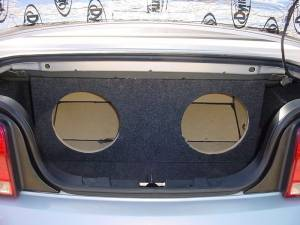 Audio Dynamics - Audio Dynamics [05musjumbo] 2005-2009 Mustang Convertible Dual 12'' or 10'' Jumbo Sub Box