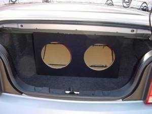 Audio Dynamics - Audio Dynamics [05musconv] 2005-2009 Mustang Convertible Dual 12'' or 10'' Sub Box