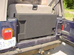 "Custom Subwoofer Boxes - Jeep - Audio Dynamics - Audio Dynamics [Jeep jumbo] Jeep Wrangler 2-10"" All Years JUMBO Box Sub Box"