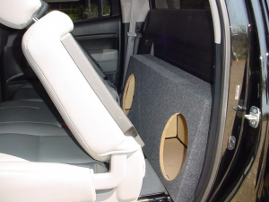Custom Subwoofer Boxes - Toyota - Audio Dynamics - Audio Dynamics [TOY-409] 2011 and up Toyota Tundra Crew Max Sub Box 2X10