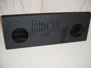 Custom Subwoofer Boxes - Toyota - Audio Dynamics - Audio Dynamics [TOY-412] 2014 Up Toyota Tundra Crew Max subwoofer Box Sub Box 2x12