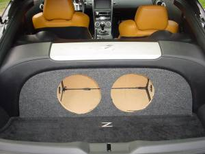 Audio Dynamics - Audio Dynamics [0307Nis350EN] 2003-2007 Nissan 350Z Dual 10 Sub Box